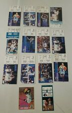 Lot Of 13 Vintage Charlotte Hornets Tickets 1990-1995 Playoff Debut Basketball