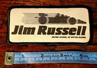 Vintage Jim Russell British School of Racing Embroidered Patch + Fast Shipping!