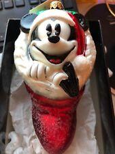 """Radko Disney~ 98-Dis-05 ~""""Mickey Stocking"""" ~ Rare"""