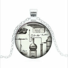 Steampunk Chemistry Tibet silver Glass dome Necklace chain Pendant Wholesale