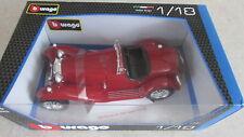 BBurago die cast model car Alfa Romeo 8C 2300 Spider Touring 1/18 scale Red NIB