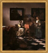 Das Konzert Vermeer Klavier Musik Gesang Instrumente Stilleben LW H A2 0290