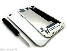 White iPhone 4 Battery Cover Back Door Replacement Rear Glass For AT&T GSM only