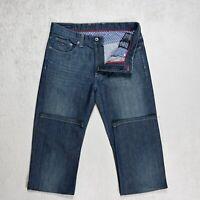 Mens TOMMY HILFIGER Madison Straight fit Jeans Size W34 L36 Stretch Denim Blue
