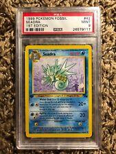 1999 Pokemon Fossil 1st Edition SEADRA #42 PSA Mint 9 UNCOMMON