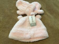 New Carter's Girls toddler pink soft fuzzy Hat & Mitten Set, 2T-4T