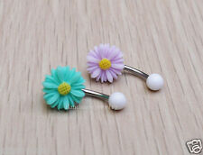 2PCS Flower belly button ring belly button piercing,navel ring body jewelry