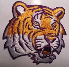 """LSU patch LSU Tigers patch LA State embroidered logo iron on patch 3""""x 3"""""""