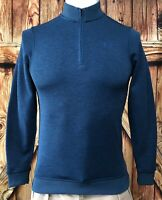 NWT Under Armour Men's Small 1/4 Zip Pullover Blue Golf Polyester ColdGear NEW