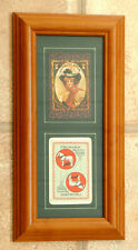 PAIR FRAMED COLLECTABLE  REPRODUCTIONS OF ANTIQUE BEER ADVERTISING PLAYING CARDS