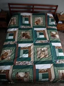 Woodland Animals Quilt- Fox, Bear, Wolf, Moose.