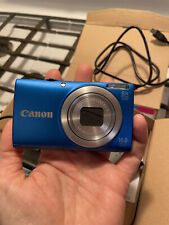 Blue Nearly new Canon Power Shot a4000 is Camera with carrying cases