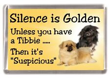 "Tibetan Spaniel Dog Fridge Magnet ""Silence is Golden .........."" by Starprint"