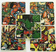 15 Marvel Retro  Spiderman Hulk Thor Stickers Party Favors Super Heroes Ironman
