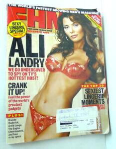 FHM Magazine December 2002  Ali Landry Hottest TV Host Brande Roderick Lingerie