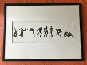 RARE ORIGINAL LARGE FORMAT GELATIN PRINT BY HERB RITTS WITH BILL T JONES SIGNED