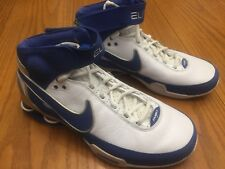 RARE 2007 Nike Shox Elite Family White Blue Silver Men's Basketball Shoes sz 8.0