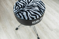 Pork Pie Percussion Round Drum Throne w/ Black/ Zebra Padded Seat Top