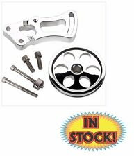 Billet Specialties 12120 - Power Steering Bracket & Pulley - SB Chevy SWP