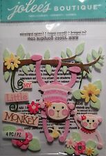 JOLEE'S BOUTIQUE BABY GIRL MY LITTLE MONKEY Scrapbook Sticker Embellishment