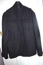Men's Black Funnel Neck Jacket Size M