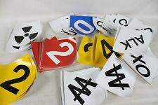 100+ Sticker Construction Safety Factory Numbers Red Yellow Acid Radioactive