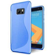 Handy Hülle für HTC 10 Silikon Case Ultra Slim Cover Schutz Hülle Tasche Blau