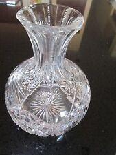 Vintage American Brilliant Glass ABG Large Carafe Zipper Neck Fan & 16pt Stars