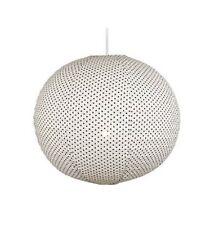 Buy john lewis fabric lampshades ebay large 51cm fabric polka dot round hanging pendant light shade lampshade lamp aloadofball Gallery