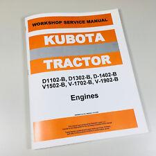 Bobcat 743 Skid Steer Loader V1702 Kubota Engine Only Service Manual Repair Shop
