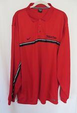 Nike Texas Tech Polo Shirt Long Sleeve Sphere Dry Red XXL  #7560