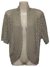 Ladies Women's Crochet Tulip Knitted Shrugs Bolero Cardigans Jumpers Plus Sizes