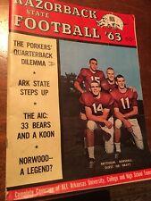 Rare Razorback State Football 1963. The Porker's Quarterback Dilemma