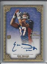 ERIC DECKER 2010 TOPPS 5 FIVE STAR ON CARD AUTO RC #D 89/100