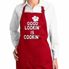 Good Lookin' Is Cookin' Funny Chef Kitchen Cooking Apron  00004000 with Pockets