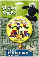 "Shaun The Sheep 18"" Foil Helium 'HAPPY BIRTHDAY' Balloon Children's Party"