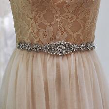 S161 Rhinestones Crystals Beads Bridal Sash Belt Wedding Dress Belt Accessories