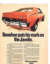1970 American Motors Javelin Mark Donohue Edition Original Color Ad