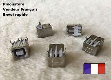 """Lot de 5 Connecteur USB """"B"""" femelle 90° a souder neuf 8-18"""