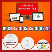 Microsoft Office 2016 Professional Plus, NEU ✔ ORIGINALE ✔ VOLLVERSION ✔ LIZENZ✔