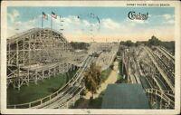 Cleveland Euclid Beach Derby Racer Roller Coaster c1920 Postcard rpx