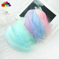 100pcs Natural Goose Feathers 6-12cm Swan Plume DIY Carnival Decor Crafts new