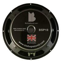 "10"" Speaker 250w RMS Full Range Driver 8 ohm Pressed Steel - BSP10"