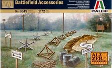 WWII Battlefield Accessories Plastic Kit 1:72 Model 6049 ITALERI