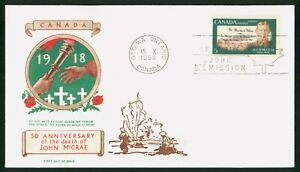 MayfairStamps Cover 1968 John McCrae Poet Canada FDC 1968 First Day Cover wwp564