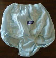 "NOS Vtg 1950s Blue Double Nylon Panties 5 Lace Chiffon ""Pink Lady Undies"" Pinup"