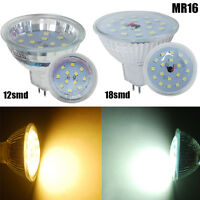 4/10X MR16 3W 5W LED Bulb Light Lamp Spotlight 2835SMD Warm White Day White US