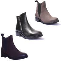 Vagabond Cary Women Leather Matt Grey Ankle Boots