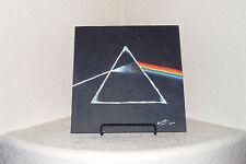 "Pink Floyd 12"" x 12"" Acrylic Painting On Flagstone By Elissa Dawn Shakal W/Easel"