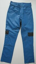 Pantalon cuir cargo bleu et noir T38/40 - Leather cargo pant blue & black